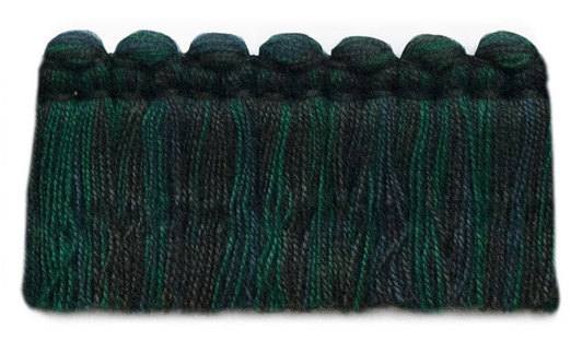 1.5 in. café brush fringe / 5003-26 / bottle green