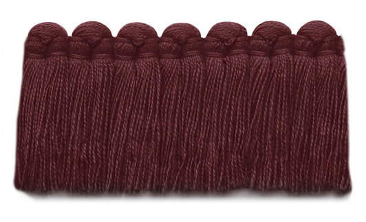 1.5 in. café brush fringe / 5003-30 / cabernet