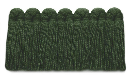 1.5 in. café brush fringe / 5003-25 / evergreen