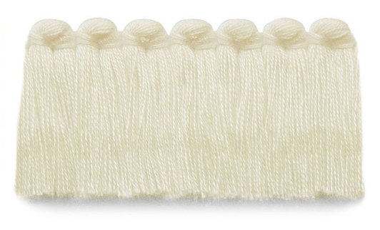 1.5 in. café brush fringe / 5003-02 / ivory
