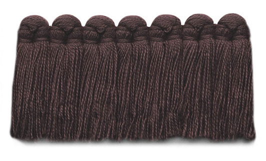 1.5 in. café brush fringe / 5003-38 / plum