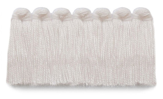 1.5 in. café brush fringe / 5003-01 / snow
