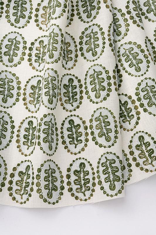 leaves & pearls/1065-04/olive porcelain